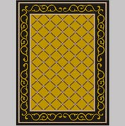 "Decor Mat - Lattice Gold 72"" x 96"""