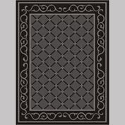 "Decor Mat - Lattice Charcoal 72"" x 96"""