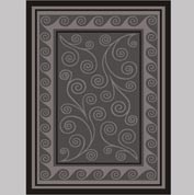 "Decor Mat - Swirl Silver 72"" x 96"""