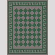 "Decor Mat - Checkerboard Green 72"" x 96"""