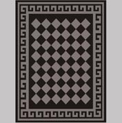 "Decor Mat - Checkerboard Silver 72"" x 96"""