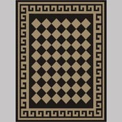 "Decor Mat - Checkerboard Suede 72"" x 96"""
