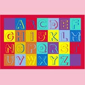 "Alphabet Faces Mat - 72"" x 96"""