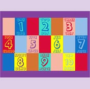 "Numbers English & Spanish Mat - 72"" x 96"""