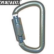 "Gemtor 5105, Carabiner - Steel - Automatic Lock - 1"" Gate"