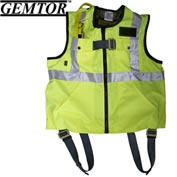 Gemtor 846427-4, Vest Full-Body Harness - Hi-Viz Yellow - XL