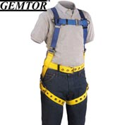 Gemtor 859H-4, Full-Body Harness - Hip D-Rings - XL - Tongue Buckle Waist Belt/Legs