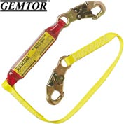 Gemtor SP1101L3, Soft-Pack Energy Absorbing Lanyard, 3 ft.