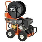 "General Wire JM-3000-A Gas Water Jet Drain/Sewer Cleaning Machine W/200' x 3/8""Hose CM-300 Cart Reel"