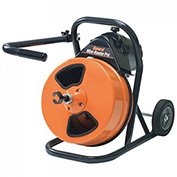 "General Wire MRP-D Mini-Rooter Pro Drain/Sewer Cleaning Machine W/75' x 1/2"" Cable & 4 Pc Cutter Set"