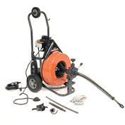 "General Wire PS-92-C Speedrooter 92 Drain/Sewer Cleaning Machine W/100'x3/4"" Cable & 8 Pc Cutter Set"
