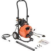 "General Wire P-XP-D Mini-Rooter XP Drain/Sewer Cleaning Machine W/ 75' x 1/2""Cable & 4 Pc Cutter Set"