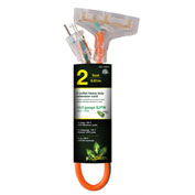 GoGreen Power, 12/3 2' 3-Outlet Heavy Duty Extension Cord, GG-15302, Lighted End