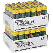 Power By GoGreen 24011 AA Alkaline Battery  - Pkg Qty 24
