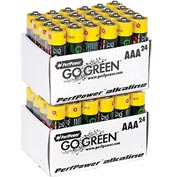 Power By GoGreen 24012 AAA Alkaline Battery  - Pkg Qty 24