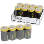 Power By GoGreen 24014 D Alkaline Battery  - Pkg Qty 12