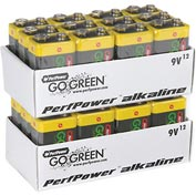 Power By GoGreen 24015 9V Alkaline Battery - Pkg Qty 12