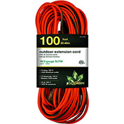 GoGreen Power, GG-13700, 100 Ft Extension Cord - Orange/Green