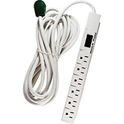 GoGreen Power, GG-16315-15, 6 Outlet Surge Protector - 15 Ft Cord - White