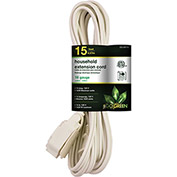 GoGreen Power, GG-24715, 15 Ft Household Extension Cord - White