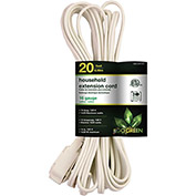 GoGreen Power, GG-24720, 20 Ft Household Extension Cord - White