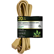 GoGreen Power, GG-25620, 20 Ft Appliance Cord - Beige