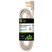 GoGreen Power, GG-27106, Dryer Cord Gray - 6 Ft