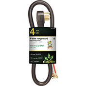 GoGreen Power, GG-27204, Range Cord Black - 4 Ft