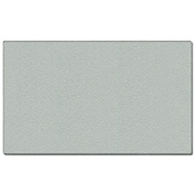 """Ghent® Vinyl Bulletin Board with Wrapped Edge, 60-5/8""""W x 48-5/8""""H, Silver"""
