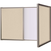 Ghent® VisuALL PC Dry Erase/Fabric Combination Board, Beige