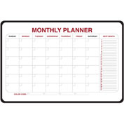 "Ghent® Monthly Dry Erase Planner, Non-Magnetic, 24"" x 36"""