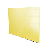 Ghent® Aria 5'W x 4'H Magnetic Glass White Board - Yellow