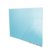 Ghent® Aria 3'W x 2'H Glass White Board - Blue