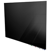 Ghent® Aria 3'W x 2'H Glass White Board - Black
