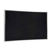 "Ghent® Recycled Rubber Bulletin Board, Aluminum Trim, 36""W x 24""H, Black"