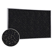 "Ghent® Recycled Rubber Bulletin Board, Aluminum Trim, 60-1/2""W x 36-1/2""H, Tan Speckled"