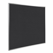 "Ghent® Recycled Rubber Bulletin Board, Aluminum Trim, 48-1/2""W x 48-1/2""H, Black"