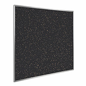 "Ghent® Recycled Rubber Bulletin Board, Aluminum Trim, 48-1/2""W x 48-1/2""H, Tan Speckled"