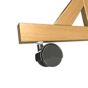 Ghent® Casters for Wood Frame Reversible Unit, 4/Set