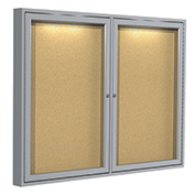 """Ghent® Concealed Lighting Enclosed Bulleting Board - 48""""W x 36""""H"""