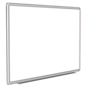 "Ghent® DecoAurora Porcelain Magnetic Whiteboard Silver/Gray Frame, 120""W x 48""H"