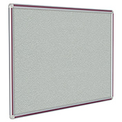 "Ghent® DecoAurora Vinyl Bulletin Board, Burgundy Trim, 144""W x 48""H, Gray"