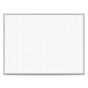 "Ghent® Grid 24"" x 36"" Magnetic Steel Whiteboard with Aluminum Frame - 1"" Grid Squares"