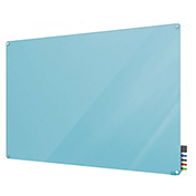 Ghent Harmony Glass Board - Magnetic - 2' x 3' - Blue - Radius Corners