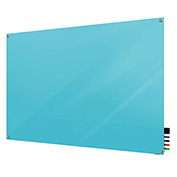 Ghent Harmony Glass Board - Magnetic - 2' x 3' - Blue - Square Corners