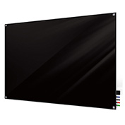 Ghent Harmony Glass Board - Magnetic - 3' x 4' - Black - Square Corners
