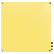 Ghent Harmony Magnetic White Board, 4' x 4', Yellow Glass, Square Corners
