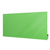 Ghent Harmony Non-Magnetic White Board, 4' x 6', Green Glass, Square Corners
