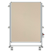 Ghent® Nexus Jr. Partition Reversible Mobile Fabric Tackboard Beige/Beige