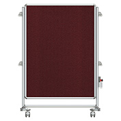 Ghent® Nexus Jr. Partition Reversible Mobile Fabric Tackboard Merlot/Merlot